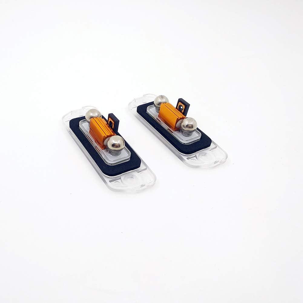 2 Pcs 3-SMD LED License Plate Light For Benz W164 W251 GL350 ML350 GL450 GL550