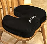 Coccyx Cushion Pillow For Chairs | Pain Relief From Back Sciatica Pinched Nerve Piriformis Syndrome Lumbosacral Spondylosis Fibromyalgia and Bruised Tailbone | Medical Grade by Med-X
