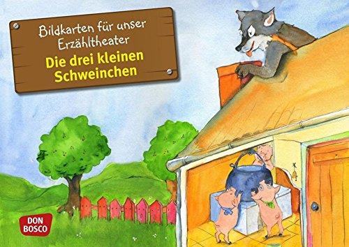 Bildkarten für unser Erzähltheater: Die drei kleinen Schweinchen Kamishibai Bildkartenset. Entdecken. Erzählen. Begreifen. (Märchen für unser Erzähltheater)