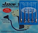 1 Arrow 9S STANDARD Tag Gun + 6 Spare Needle Combo Price Label Clothing Tagging Attacher with High Quality Steel Needles