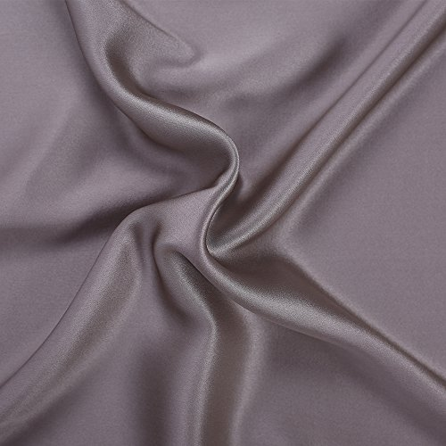 S·789 Chameuse Silk Pillowcase with Hidden Zipper Window,Luxury Satin Silk Pillow Sham,Both Sides 19 Momme Silk,20x36 Inches,Silver Grey Color Oganic Pillowcase with Gift Package by S·789 (Image #3)