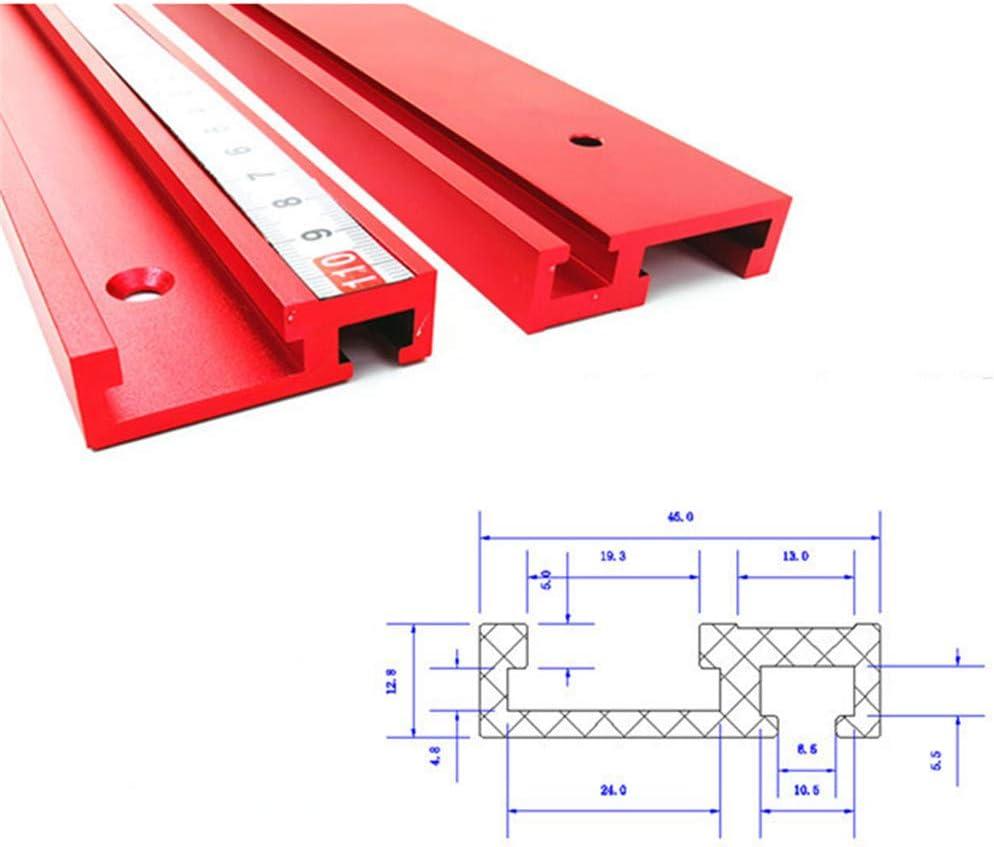 belupai T-Schiene aus Aluminiumlegierung 45 Typ T-Schiene f/ür Holzbearbeitung Standard 600 mm 800 mm