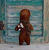 Primitive Gingerbread Doll with Brown Homespun Scarf