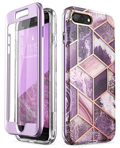 i-Blason Cosmo Glitter Clear Bumper Case for iPhone 8 Plus/iPhone 7 Plus (Ameth)