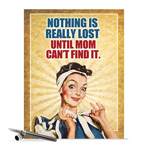 J0212 Jumbo Funny Mother's Day Card: Nothing Is Lost With Envelope (Extra Large Version: 8.5'' x 11'')