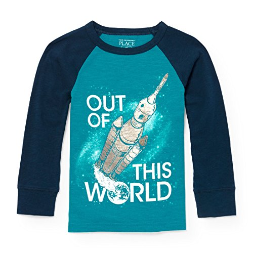 The Childrens Place Baby Boys December Raglan Graphic Long Sleeve Knit Top