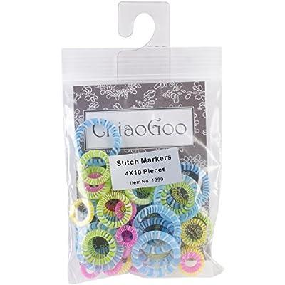 ChiaoGoo Stitch Markers, Set of 40 by ChiaoGoo