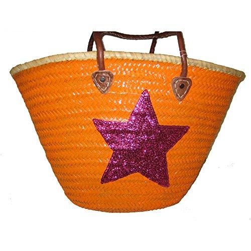 Da Buckle Borsa Orange Spiaggia magenta Multicolore Up qTE1Tw6