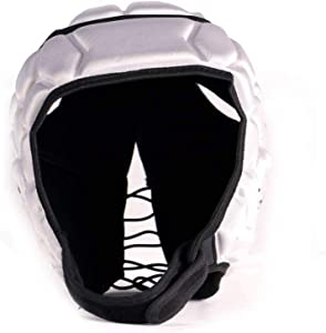 HEAT PRO competition rugby helmet headguard, Silver, size S