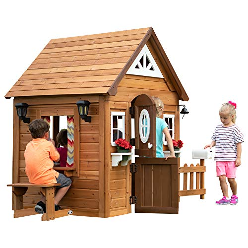 Backyard Discovery Aspen All Cedar Outdoor Wooden Playhouse ()