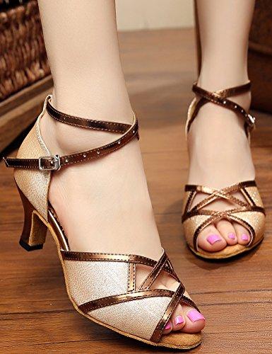 CFP - Zapatillas de danza de Material Sintético para mujer Dorado dorado kqxeAk