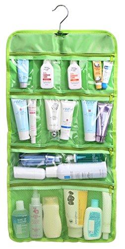 WODISON trasparente attaccatura di corsa toeletta organizzatore cosmetico del sacchetto di caso (Verde lime)