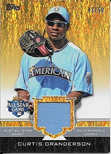 2012 Topps Update All Star Stitches Gold Sparkle Curtis Granderson Jersey #43/50