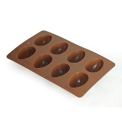 Amazoncom Mirenlife 8 Cavity Egg Shape Non Stick Silicone Mold For