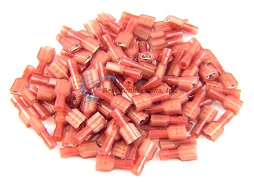 22-18 GAUGE QUICK DISCONNECT 100 MALE 100 FEMALE RED NYLON CONNECTOR INSTALL BAY