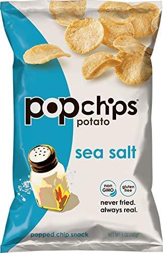 Popchips Potato Chips Sea Salt Potato Chips 5 oz Bags (Pack of 12)-SET OF 3