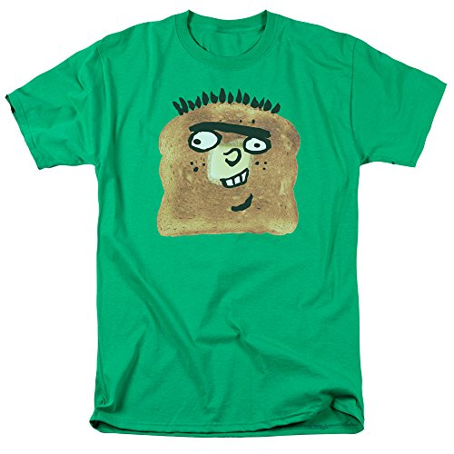 Ed EDD N Eddy Ed Toast Unisex Adult T Shirt for Men and Women, Medium Kelly Green