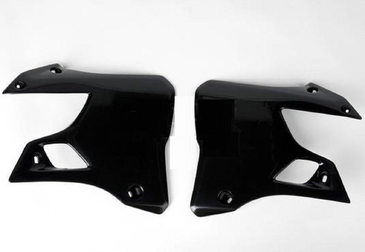 Ufo Black Radiator Shroud Fits Yamaha Yz125 Yz250 1996-2001