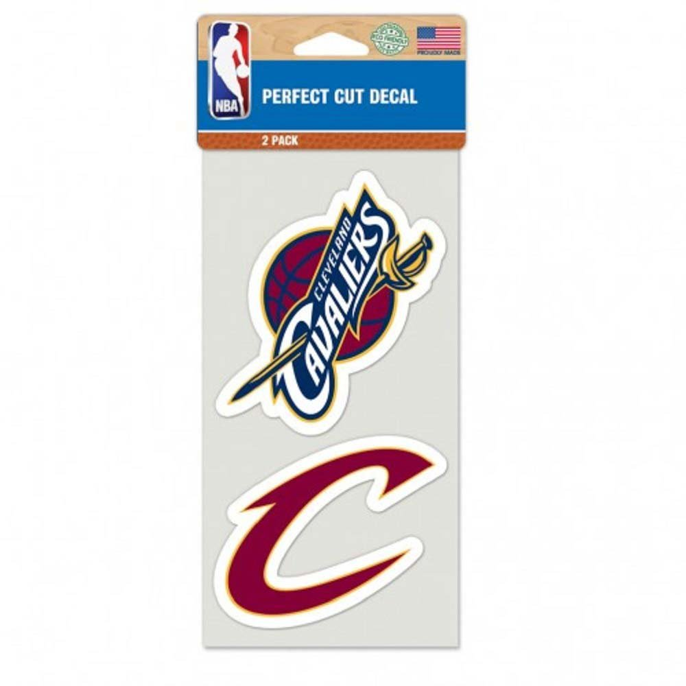NBA Cleveland Cavaliers 48701011 Perfect Cut Decal (Set of 2), 4'' x 4''