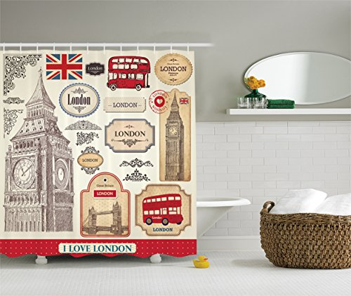Compare price to british theme fabric for London themed bathroom accessories