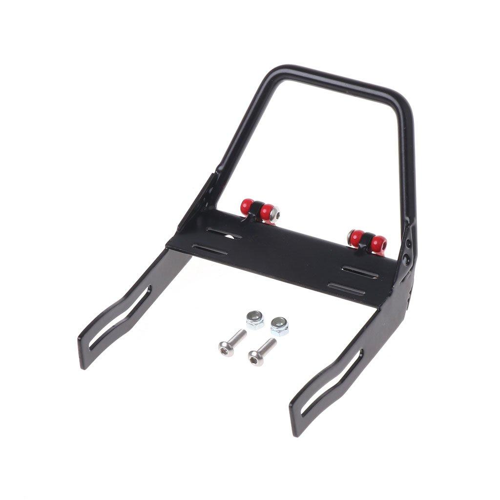 Dabixx Metal Front Bumper, Front Bumper Trapezoid Bull Bar Shackles for 1:10 RC Car Axial D90 D110 SCX10