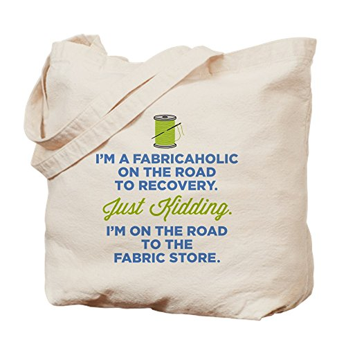 (CafePress - Fabricaholic On The Road To Recovery - Natural Canvas Tote Bag, Cloth Shopping)