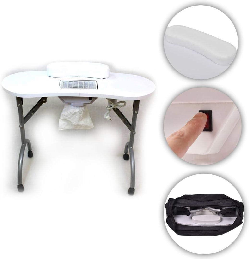 Mesa de manicura Profesional con aspirador y cojín Gel ...