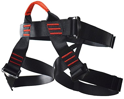 Climbing Harness, Newdoar Women Man Child Half Body Safe Seat Belts For Mountaineering Rock Climbing,Mountaineering Outward Band Fire Rescue,Expanding Training,Rappelling Gear Black