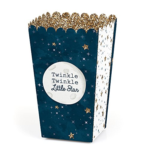(Twinkle Twinkle Little Star - Baby Shower or Birthday Party Favor Popcorn Treat Boxes - Set of 12)