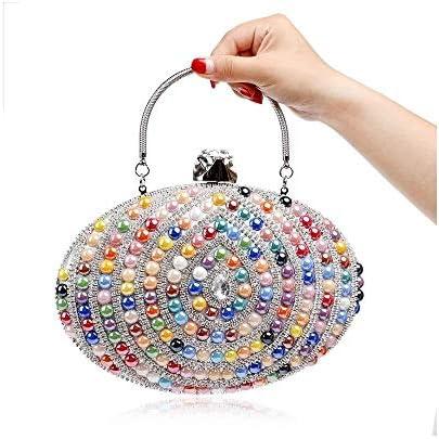 セラミックキャンディーカラーレディースイブニングバッグ、エッグデザインチェーンショルダーメッセンジャーバッグ、ダイヤモンドクラッチバッグ、小銭入れ、クラシックエレガントカラー:カラー 美しいファッション