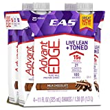 EAS AdvantEDGE Ready-To-Drink Nutrition Shake, Milk Chocolate, 24 Count (one month supply)