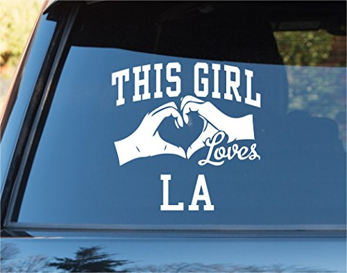 This Girl Loves LA Los Angeles Decal Sticker Car Window Truck Laptop Tablet Dodgers Lakers Kings Clippers Angels Ducks Los Angeles Lakers Car