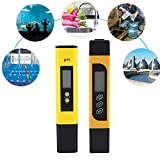 Water Quality Tester, Digital LCD PH + TDS Meter 2 in 1 Temperature Accuracy Monitor Set Pocket ATC Water Purity Tester Pen