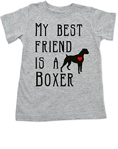 Best Friend Boxer - Vulgar Baby, My Best Friend is a Boxer, Toddler Shirt, 18 Mo T-Shirt, Heather Grey
