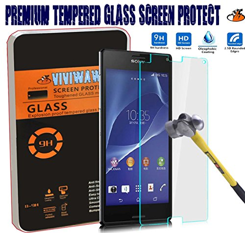 2.5d Round Edge 0.3mm Ultra-thin Tempered Glass Screen Protector (Sony Xperia Z3 Compact Z3 Mini)