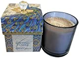 Punch Studio Black Currant 9.6 Oz. In Glass With Blue Peacock Keepsake Gift Box