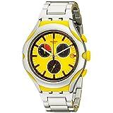 Swatch Men's YYS4002AG Irony Analog Display Swiss Quartz Silver Watch