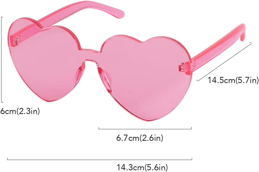 kilofly 3 Rimless One Piece Clear Candy Color Women Men Round Sunglasses