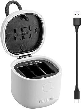 Amazon.com: TELESIN Allin Box Cargador de batería con ...