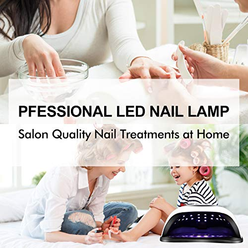 UV LED Nail Lamp, Amconsure 168W Nail Dryer for Gel Polish with 4 Timer Settings, Auto Sensor and LCD Display, Professional Gel Curing Lamp Gel Polish Light with 42 LED Beads for Solon and Home Use