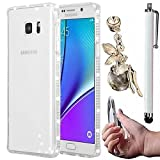 Samsung Galaxy A7 (2016) A7100 Case,Vandot 3 in 1 Set Soft Flexible TPU Rubber Clear Diamond Bling Crystal Rhinestone Protective Shell Back Case Cover+Angel Anti Dust Plug+Touch Pen-White