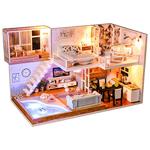 Dollhouse Miniature with Furniture, DIY Dollhouse Kit for sale  Delivered anywhere in USA