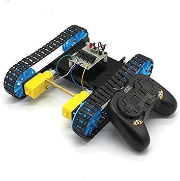 FEICHAO Modelo de Tanque ensamblado DIY con Robot de Control Remoto Chasis sobre orugas Oruga Kit de Material de vehículo: Amazon.es: Juguetes y juegos