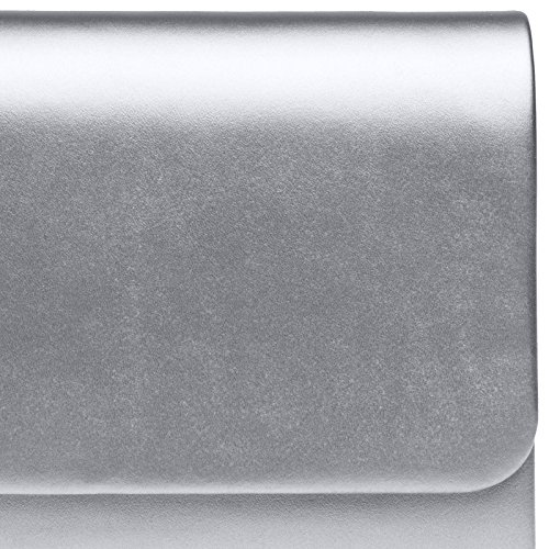 TA411 XL Silver Square Evening Bag Flat Clutch Ladies Envelope Large Elegant CASPAR dqwg8xTPx