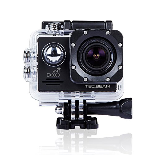 TEC.BEAN EX5000 14MP 2.0Inch WIFI Waterproof Action Camera with 2 Batteries and Mounting Accessories Kit - Black...