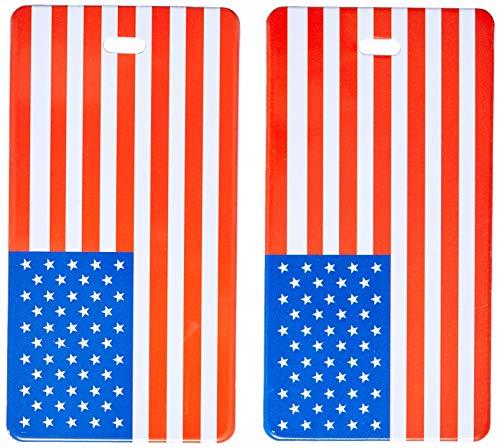 Lewis N. Clark 2-Pack American Flag Luggage Tag, American Flag, One Size