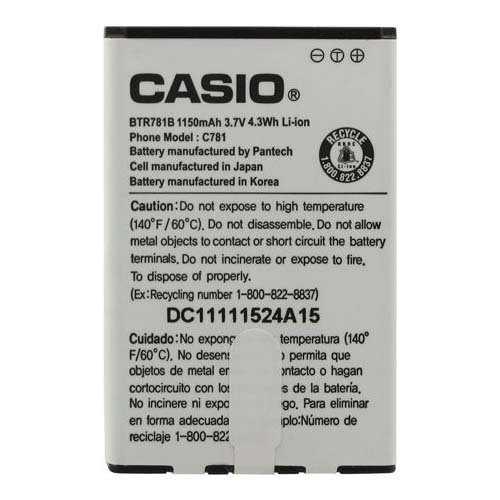 Casio BTR781B BTR781 Battery G'zOne Ravine 2 Original OEM – Non-Retail Packaging – White