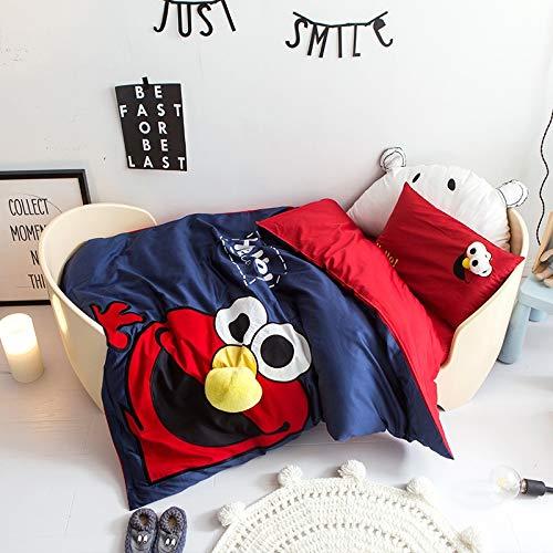 キッズ寝具セット - ジュニア/幼児/ベビーベッド布団カバー&枕カバー漫画動物シートキルトカバー (Size : XL) B07PN9H413