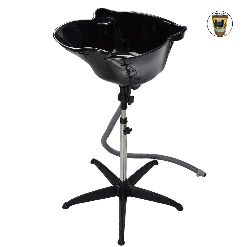 Height Adjustable Shampoo Basin Stand Hair Salon Portable Treatment Bowl Beauty Only by eight24hours + SPECIAL GIFT