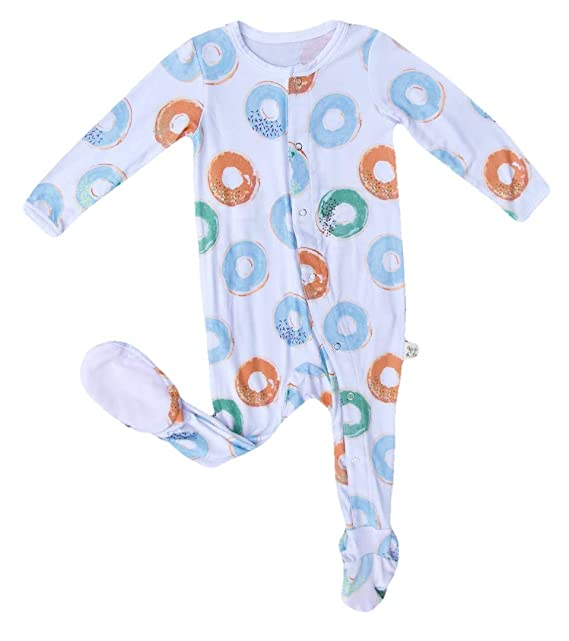 2877800fe Kozi   Co. Baby Sleeper Footie Pajamas Infant Boys and Girls Blue ...